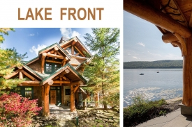 LAKESIDE Adirondack Style GREAT CAMP - Dramatic GREAT ROOM FLOOR w/ Spectacular OPEN KITCHEN