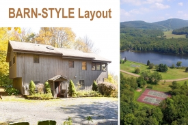 TUNIS LAKE CATSKILL RETREAT - TUNIS LAKE HOME -- Dramatic OPEN BARN DESIGN