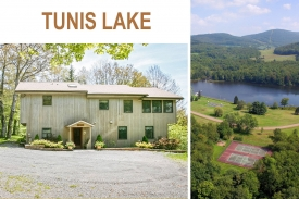 TUNIS LAKE CATSKILL RETREAT - Dramatic OPEN BARN DESIGN