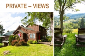 1920's Vintage Dacha Russian Hunting Lodge - Totally PRIVATE -- Panoramic  VISTA VIEWS