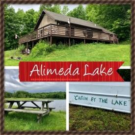 BEAUTIFUL LAKE ALIMEDA IN THE CATSKILL MOUNTAINS - LAKE ALIMEDA CHALET ON 5 ACRES