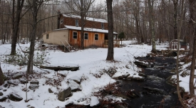 Cottage with Year-Round Stream in Gilboa - Master Loft and Cathedral Ceiling