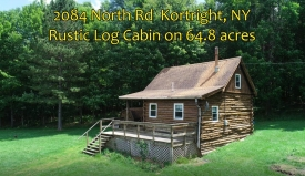 Rustic Log Cabin in Kortright - Great Location - privacy in South Kortright